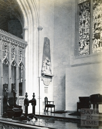 Lady Miller's memorial, Bath Abbey c.1890