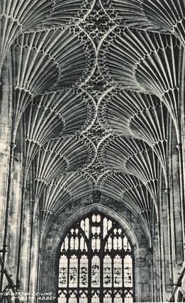 Bath Abbey fan vaulting ceiling c.1930