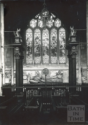 Bishop Montague's Tomb, inside Bath Abbey, c.1950s