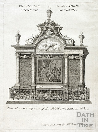 The altar in the Abbey Church, Bath 1725