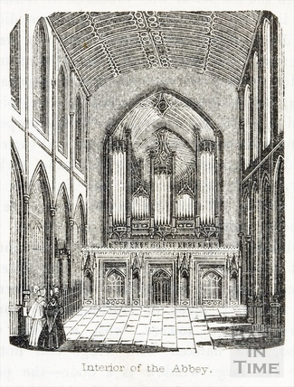 Interior of Bath Abbey, 1845