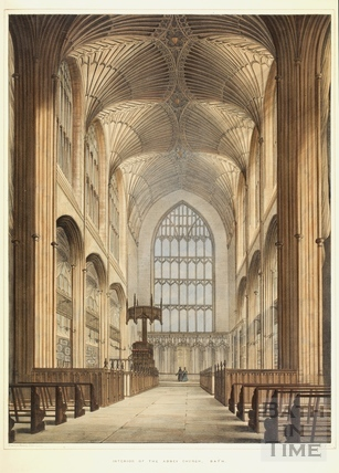Interior of the Abbey Church, Bath c.1840