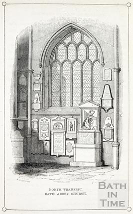 The North Transept, Bath Abbey 1843