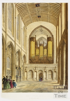 Abbey Church, Bath, View from the Western Entrance c.1836.
