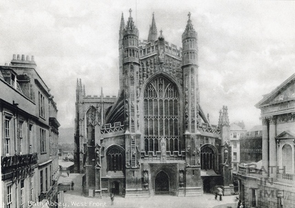 Bath Abbey, west front c.1930s