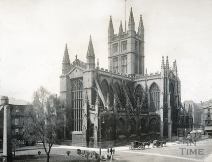 Abbey Church (exterior). North East view with Orange Grove c.1900