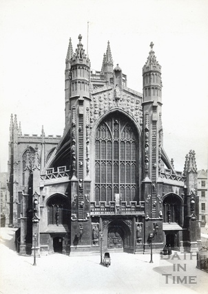 Bath Abbey west front c.1890