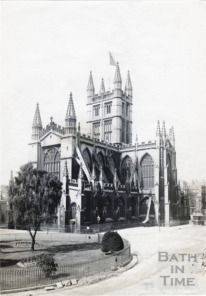Abbey Church, North East view with Orange Grove c.1890