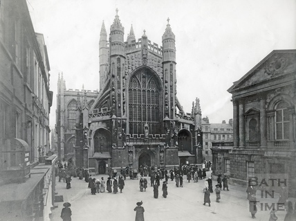Bath Abbey, west front c.1905