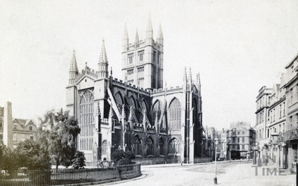 Abbey Church (exterior). North East view with Orange Grove c.1890
