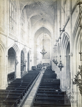 Bath Abbey interior c.1890