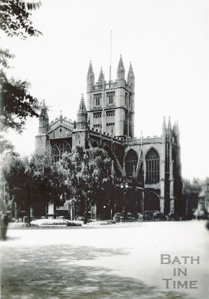 Abbey Church (exterior). North East view with Orange Grove c.1930s