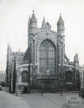The west front of Bath Abbey c.1880