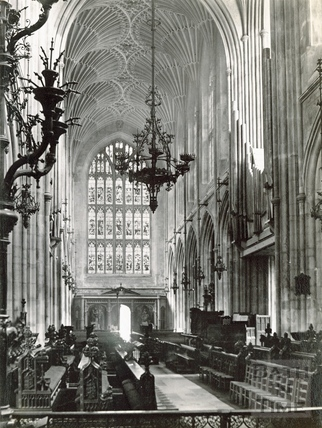Bath Abbey Interior looking west c.1890