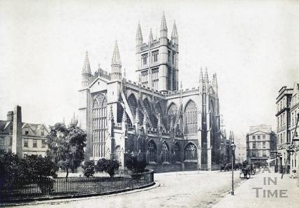 Bath Abbey from the Orange Grove, Bath 1869