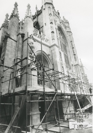 Bath Abbey west front restoration 1992