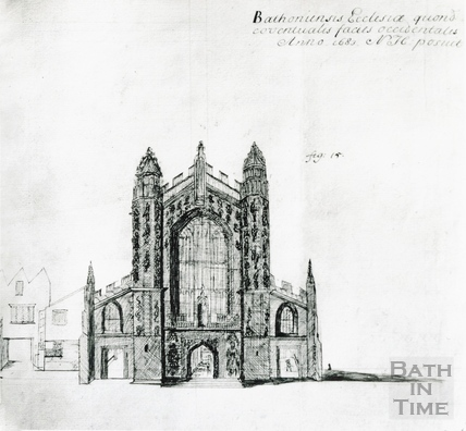 Bath Abbey west front 1683