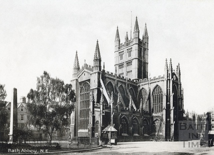 Abbey church, north east view from the Orange Grove c.1920s?