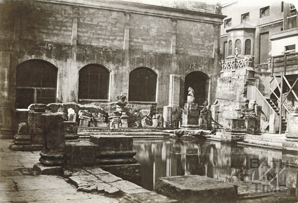 The newly excavated Great Roman Bath c.1890