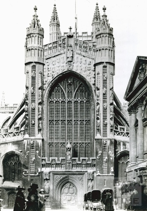 Abbey Church, west front c.1920s