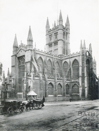 Bath Abbey side view, from the north east c.1900