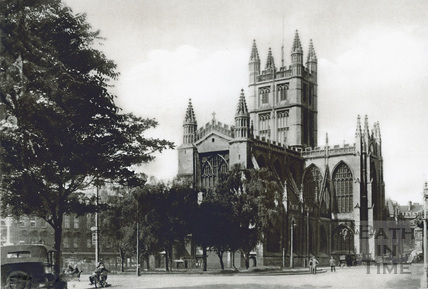 Abbey church, north east view from the Orange Grove c.1930s