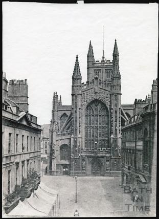 Bath Abbey west front c.1853-1861