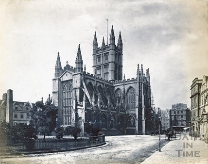 Abbey church, north east view from the Orange Grove 1869