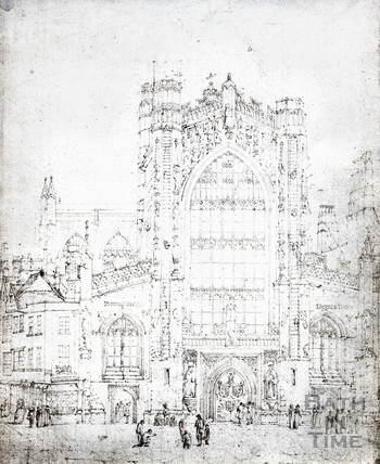 Bath Abbey, west front c.1820s