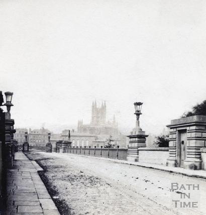 Bath Abbey from North Parade Bridge c.1880