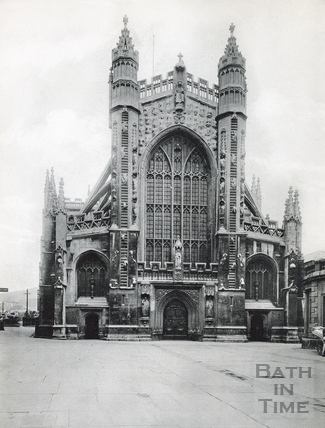 Bath Abbey Church, west front c.1900