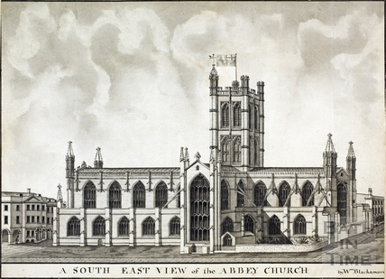 A South East View of the Abbey Church 1785