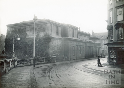 The Bath Royal Literary & Scientific Institute viewed from Orange Grove c.1930s