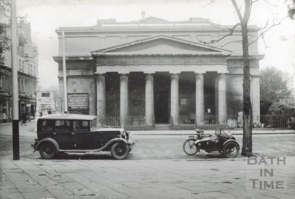 The Bath Royal Literary & Scientific Institute viewed from York Street c.1920s