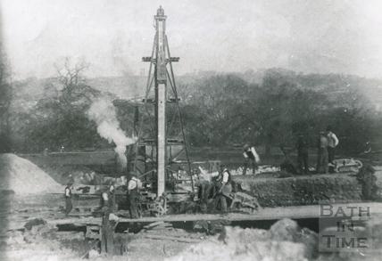 The demolition of the Bath Royal Literary & Scientific Institute, Bog Island 1932