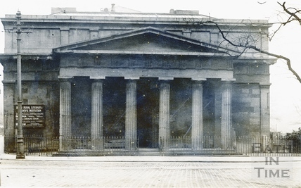 The Bath Royal Literary & Scientific Institute portico c.1880