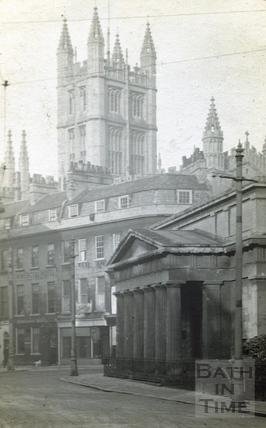 The Bath Royal Literary & Scientific Institute portico at the end of York Street c.1920s