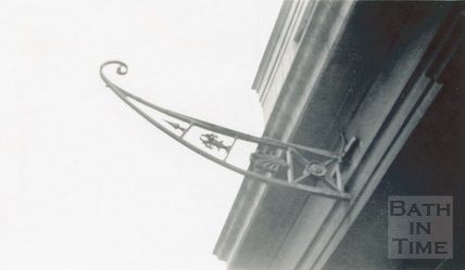 A Lamp bracket from the Bath Royal Literary & Scientific Institute at the end of York Street c.1920s