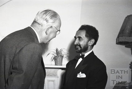 Emperor Haile Selassie at a function in Bath, 1936