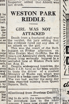Weston Park Riddle 22 Sept 1945