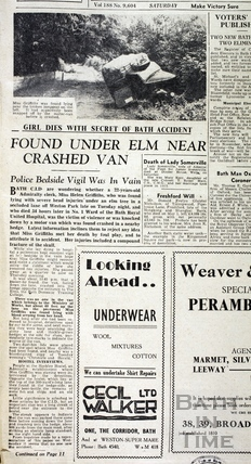 Girl Dies with Secret of Bath Accident 25 August 1945