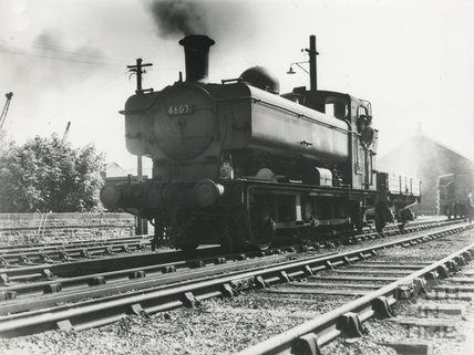 GWR Pannier Tank engine BT 11 25 No 4603 shunting at the Great Western goods yard at c.1964