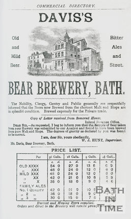 Davis's Bear Brewery, Wells Road, Bath 1888