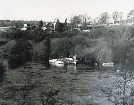 Flooded River Avon at Newbridge, 1960