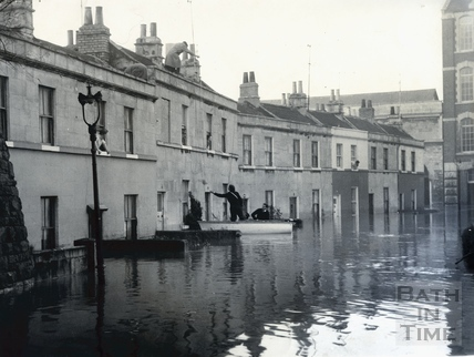 Flooded Oak Street off Lower Bristol Road, July 1968 or 1960?
