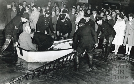 Rescuing stranded Bathonians from the Forum , Southgate 1960