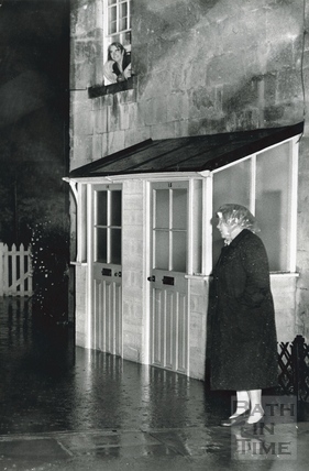 Weston, house Nos 14&15 in flood on an unidentified street, 1960