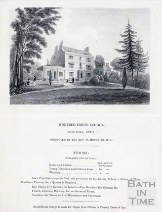 Winifred House School, Sion Hill, Bath c.1830