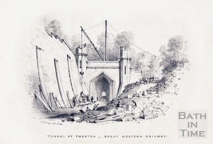 Tunnel at Twerton, building the Great Western Railway c.1846