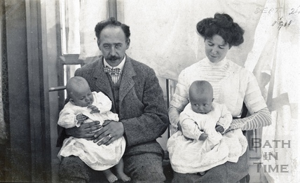 The photographer George Love Dafnis, his wife Violet and their twin boys, Sept 24th 1911